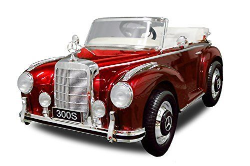 Lizenz Kinderauto Mercedes - Benz 300S 2x30W Motor Elektro #Elektroauto Kinder MP3 (Metallic Rot)