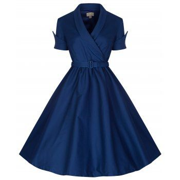 'Courtney' Midnight Blue Swing Dress