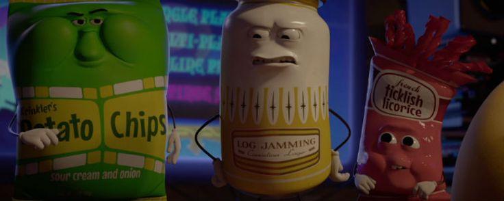 """La fiesta de las salchichas: Un humano comete pizzicidio en este clip de la película  """"La comedia de animación para adultos de Seth Rogen llegará a los cines españoles el próximo 7 de octubre."""" Los alimentos guardan un g..."""