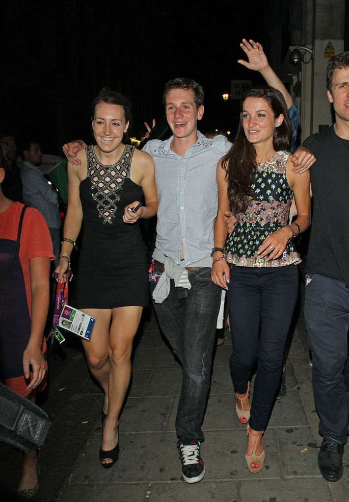 Team Great Britain gold medalists Dani King, Lizzie Armitstead and Alistair Brownlee    P A D R O T E