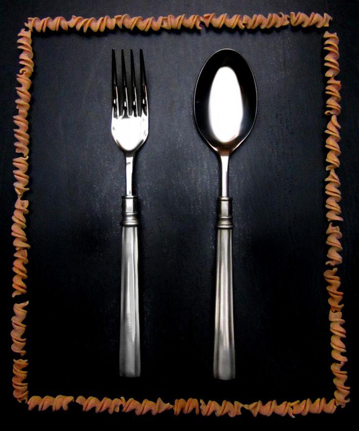 Pewter & Stainless Steel Serving Set - Food Safe Product - #pewter #stainless #steel #serving #flatware #cutlery #serveware #set #peltro #acciaio #posate #servizio #servire #zinn #edelstahl #stahl #servierbesteck #étain #etain #couverts #peltre #tinn #олово #оловянный #tableware #dinnerware #table #accessories #decor #design #bottega #peltro #GT #italian #handmade #made #italy #artisans #craftsmanship #craftsman #primitive #vintage #antique