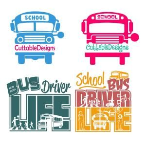 {Daily FREE Cut File} School Bus Driver Life - Available for FREE today only, Aug 9