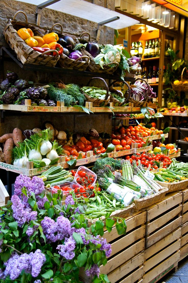 Cores de Florença.  (Market in Italy)