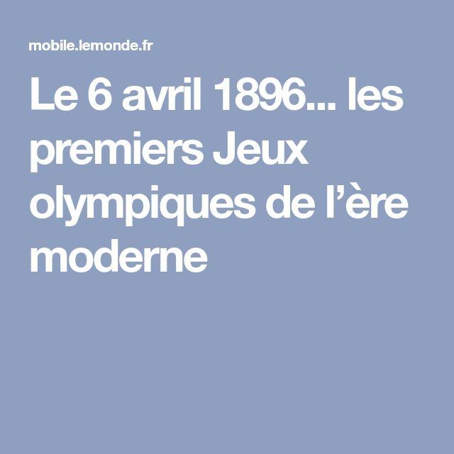 Le 6 avril 1896... les premiers Jeux olympiques de l'ère moderne