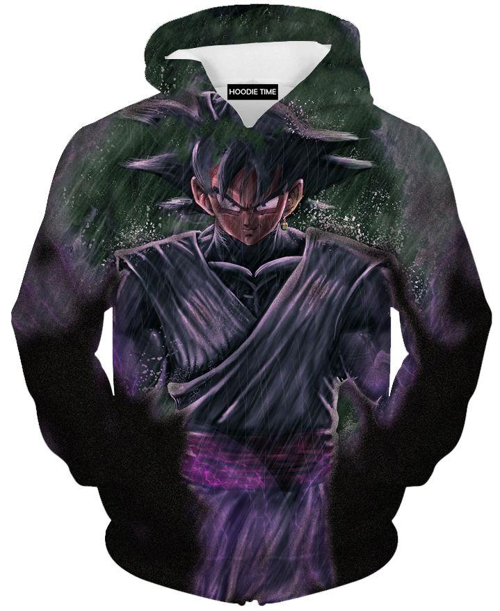d976fc3d76dc Dragon Ball Z Hoodies - Sinister Goku Black Hoodie - DBZ 3D Clothing ...
