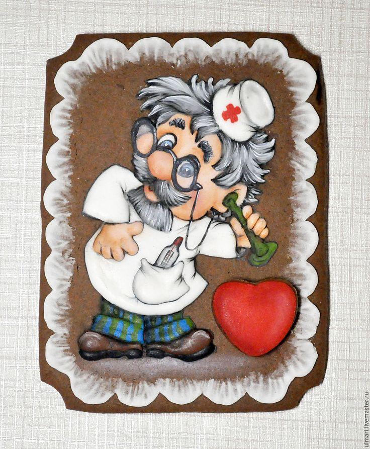 Купить Пряничная открытка Доктор Айболит. - Пряники имбирные, пряничная открытка, пряничный сувенир