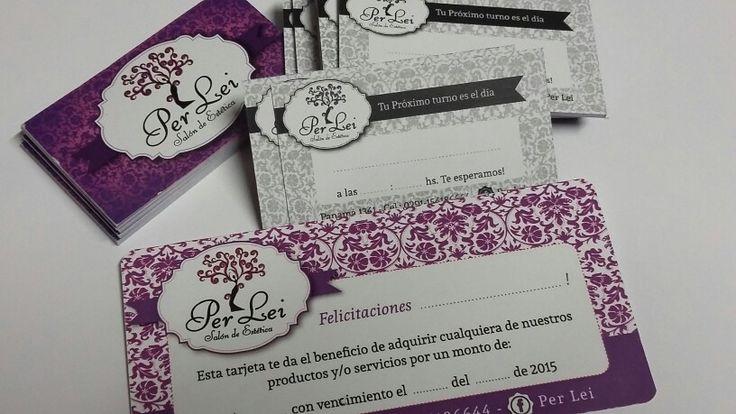 Tarjetas comerciales + Boucher de regalo. Estetica