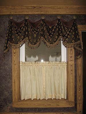 best 25 rustic valances ideas on pinterest rustic window treatments curtain rods and wooden. Black Bedroom Furniture Sets. Home Design Ideas