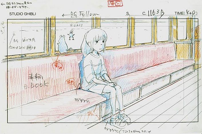 Film: Spirited Away (千と千尋の神隠し) ===== Layout Design - Scene: Always On My Mind…