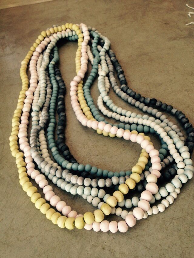 Tiny hand rolled ceramic bead necklaces www.hellooow.co.za