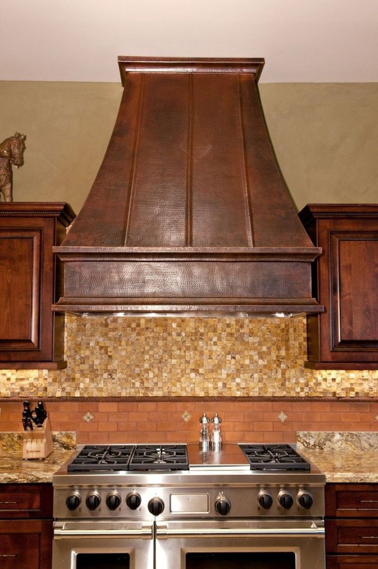 Restaurant kitchen hood stainless backsplash - Best 25 Copper Range Hoods Ideas On Pinterest Copper Hood Kitchen Island Hood Ideas And Country Kitchen