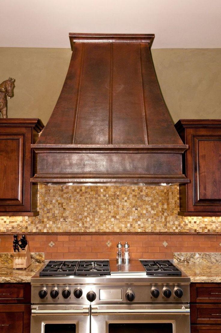 Kitchen range hoods copper - Wooden Covered Vent Hood Copper Range