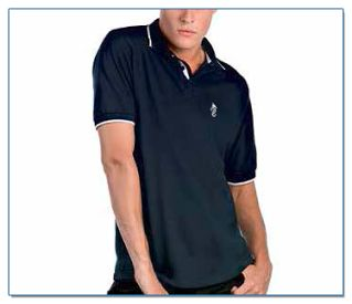 SeaHorse-Collection, men's piqué polo shirt with piping, 49,99€