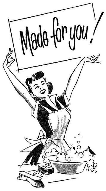 """Made for you!"" ...The sentiment of many a vintage (and modern) housewife towards her husband ~ detail from a vintage Puritan Soap ad."