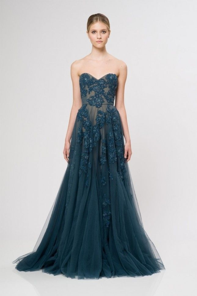 Bold blue wedding dress - autumn wedding dresses ideas | itakeyou.co.uk: