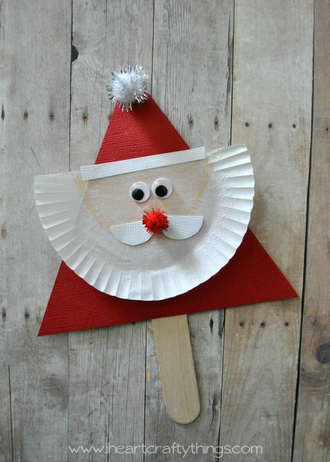 I HEART CRAFTY THINGS: Santa and Reindeer Stick Puppets