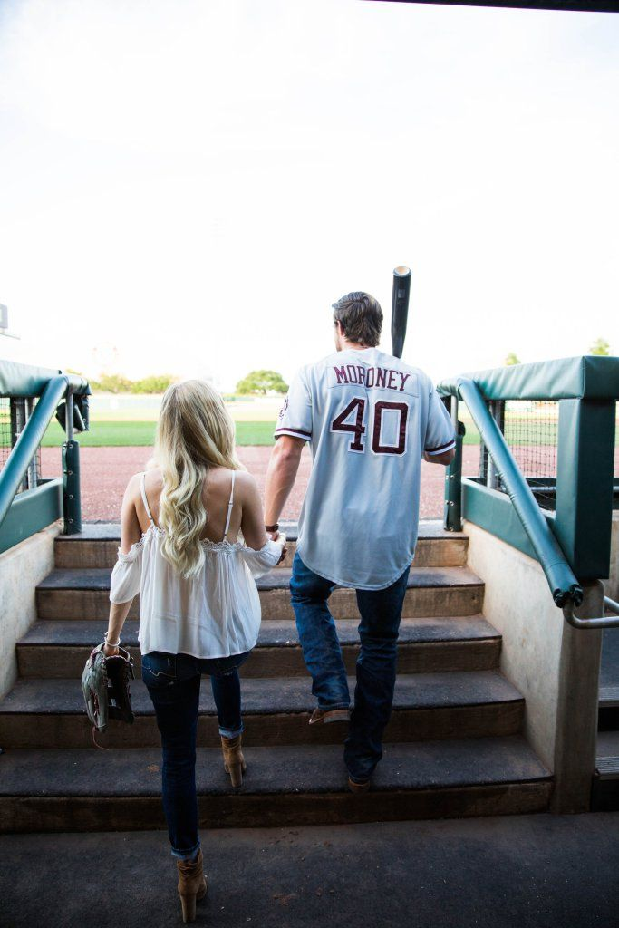 The Styled Petite | Engagements Part two | thestyledpetite.com | Baseball Engagements | Baseball Engagement Photos | Engagement Photos