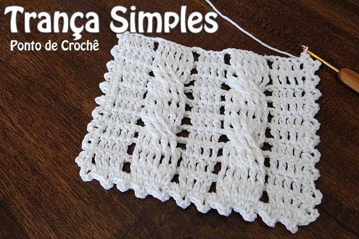 """Olá pessoal! Aula de hoje vamos fazer um ponto de crochê - """"Trança Simples"""" ?  http://ift.tt/2hjhusx #crochet #professorasimone #semprecirculo"""