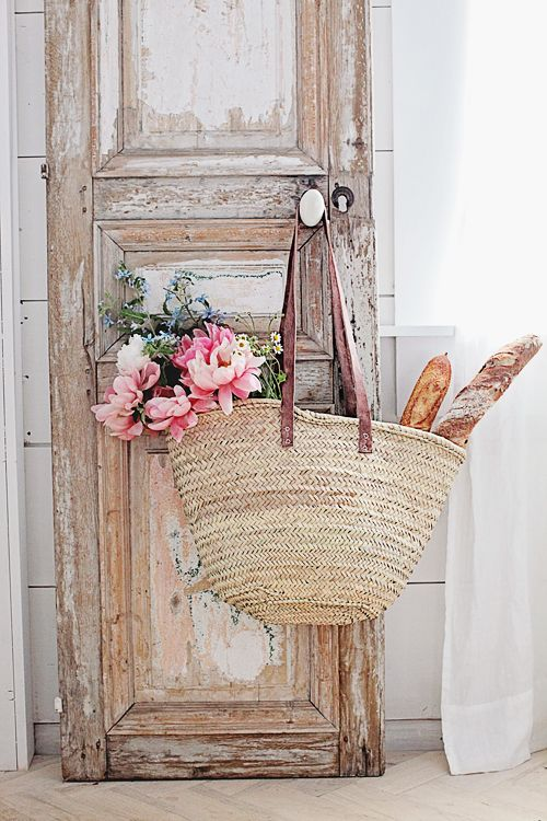Long Handled French Market Basket