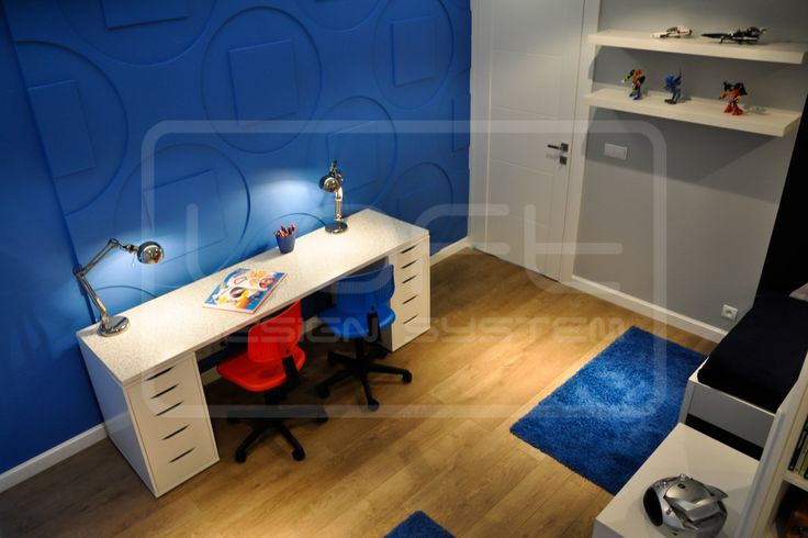 Round & Square - model 05 - teen's room. Click at the photo to get more information or to visit our website.  #LoftDesignSystem #loftsystem #Decorativepanels #Inspiration #Interior #Design #wallpanels #3Ddecorativepanels #3dpanels #3dwallpanels #house #home #homedesign #Decorations #homedecorations  #teen'sroom