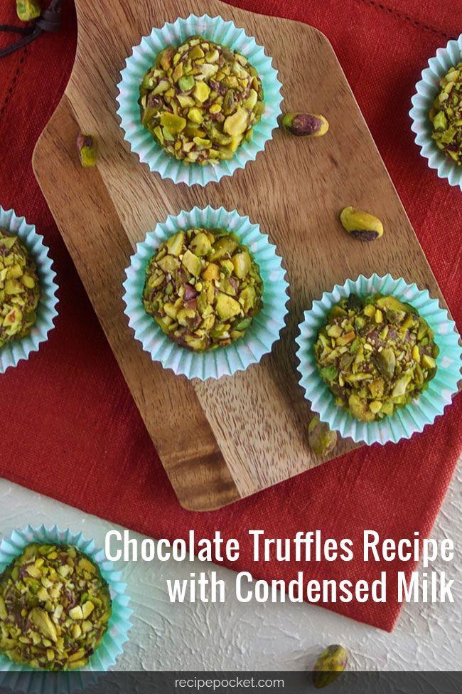 Chocolate Truffles With Condensed Milk   Recipe   Truffle ...
