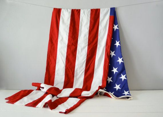 Vintage American Flag  Unites States Flag  4th by TimberAndTwine, $150.00