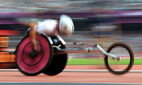 Great Britain's Jade Jones during her Women's 800m T54 heat at the Olympic Stadium.