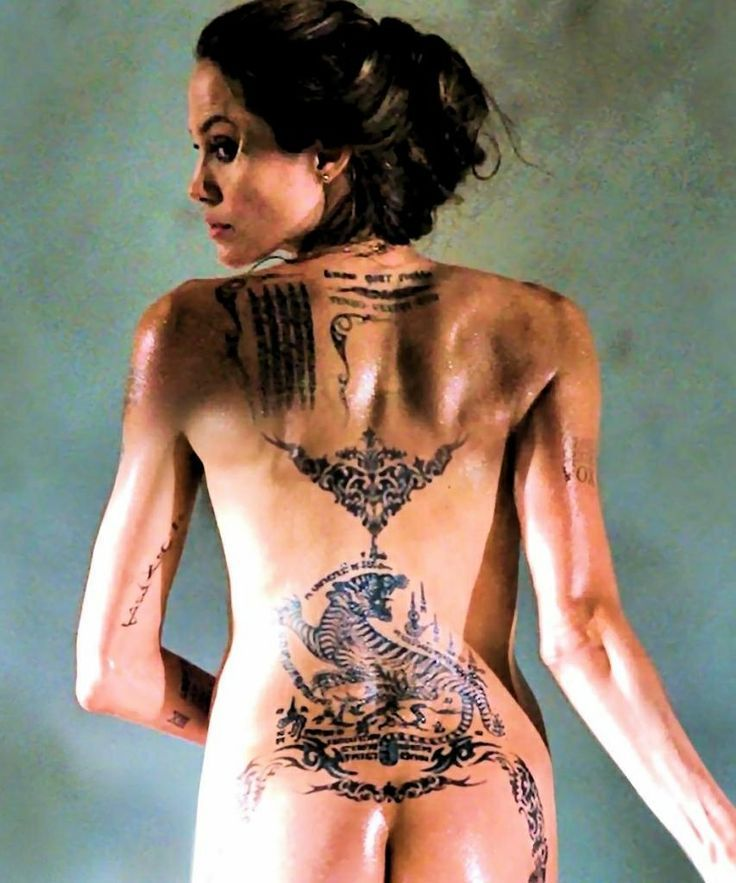 Angelina Jolie Sak Yant Tattoos