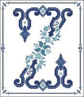 Decorative Blue Alphabet Z