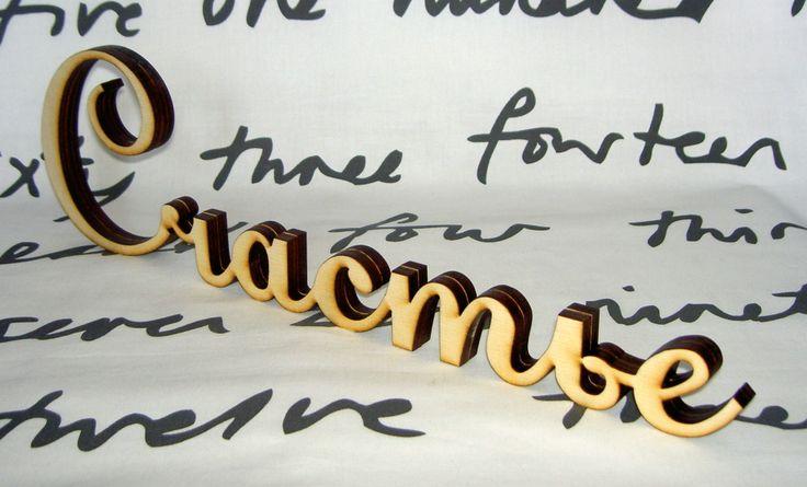слово для интерьера, вырезано из фанеры, толщина 12 мм