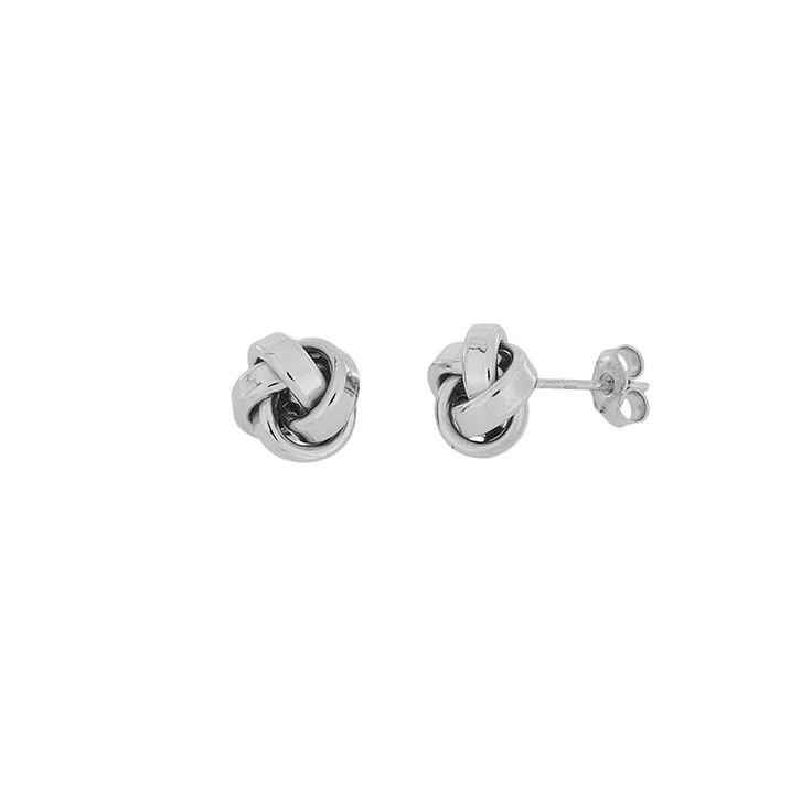 Silver Knot Earrings