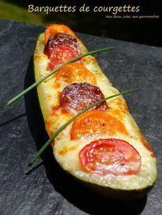 Barquettes de courgettes au chorizo, tomates cerises et mozzarella – Mon Show……