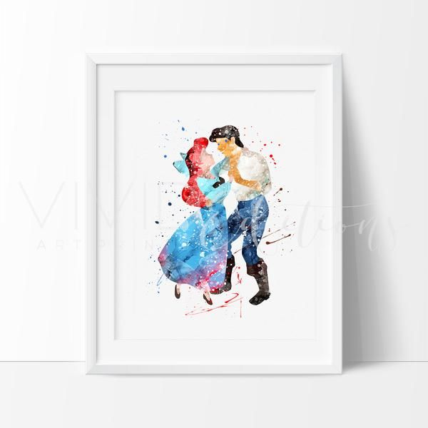 Modern nursery art for girls featuring your favorite Disney Princess. Affordable handmade nursery art prints that compliment any style nursery project you have in mind.