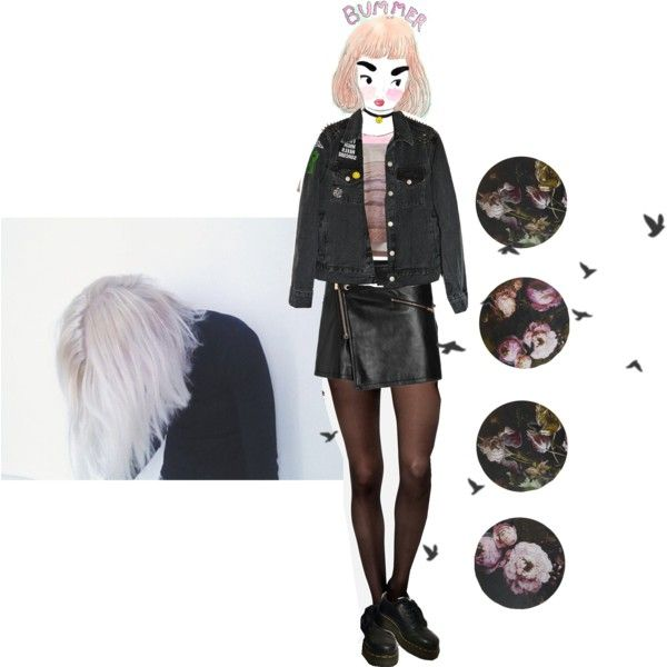bummerrrr by papawine on Polyvore featuring Just Cavalli and Dr. Martens