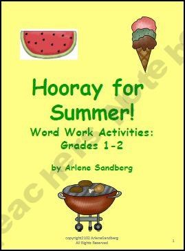 Hooray For Summer Word Work Activities: Syllable Sorting, Building, Center Activities, Compound Words, Words Work Activities, Word Work Activities, Dr. Who, Summer Words, Work Packets