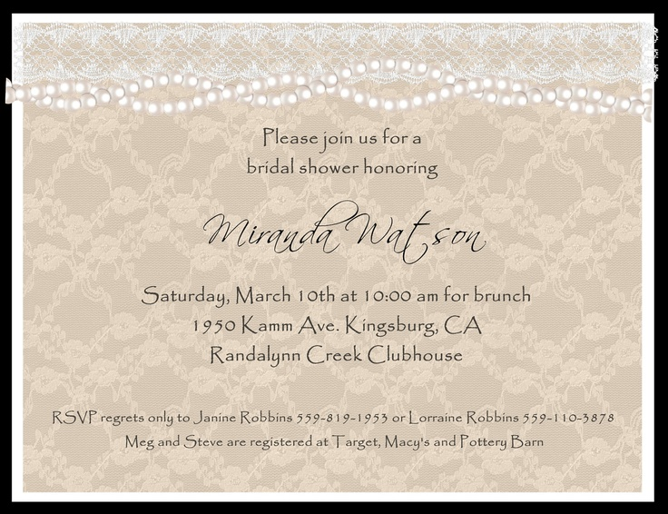 Wedding Invitations Lace And Pearl: 17 Best Ideas About Pearl Bridal Shower On Pinterest