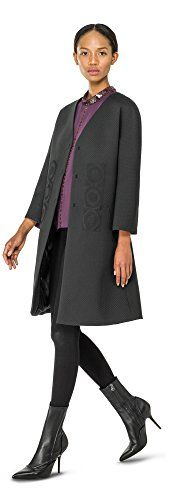 Max Studio by Leon Max Embroidered Cocktail Coat - 5108R64-BLACK-S