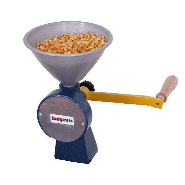 Grand moulin de table manuel en métal. Pour céréales, appâts de pêche ou broyer les herbes aromatiques.