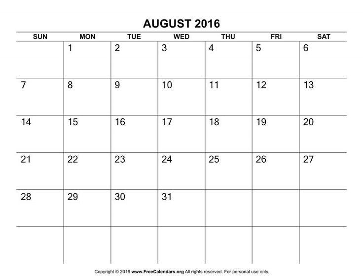 The 25+ best Blank calendar template 2016 ideas on Pinterest - blank calendar template