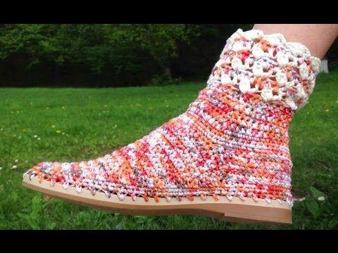 Crochê da Alessandra - increíble técnica de ganchillo zapatos. | su ganchillo