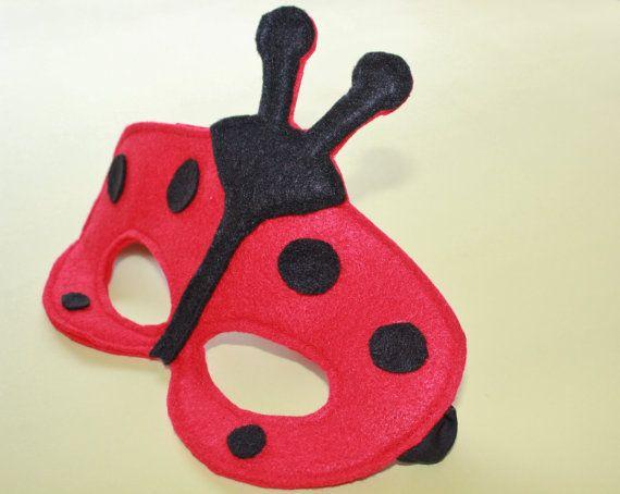 Ladybug Mask  Animal Mask  Ladybug Birthday Mask by NeverlandNook, $10.00