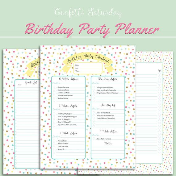 The  Best Birthday Party Checklist Ideas On   Party