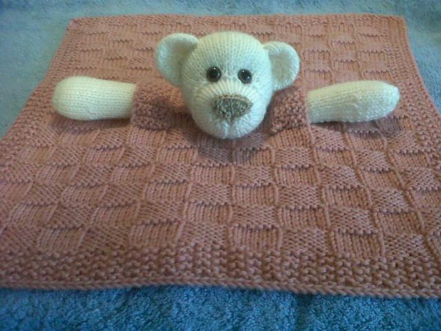 Ravelry: Bear Buddy Comfort Blanket/Blankie pattern by Pat ...
