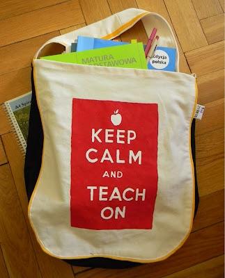 die beste Lehrertasche der Welt! von mir, fuer mich! seht ihr, WAS ich unterrichte? :)