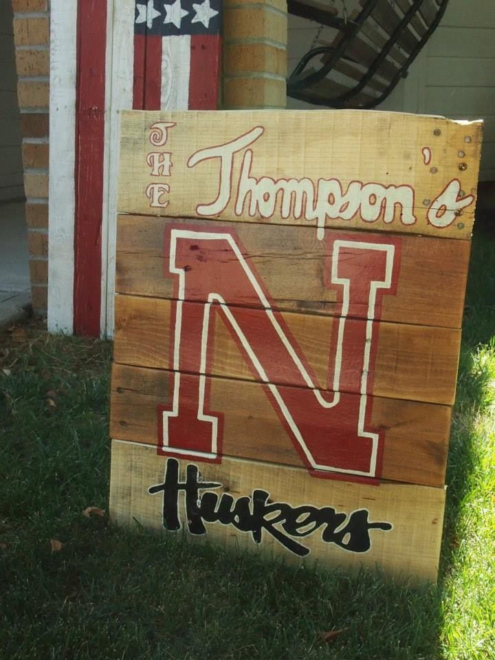 Personalized Nebraska Football Yard Sign