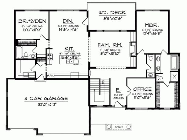 1000  images about ranch house plans on pinterest