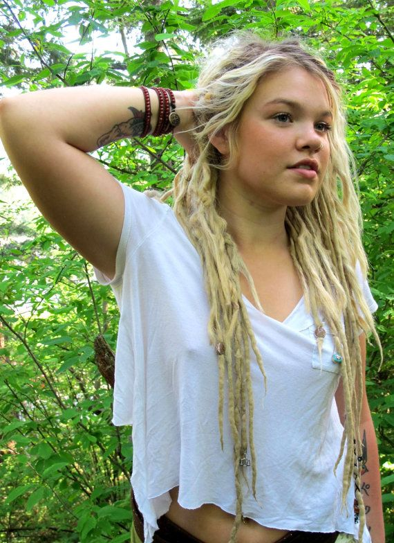 Blonde Surfer Soul Dreadlock Extensions of Light Blonde Merino Wool for Gypsy / Festival / Rave
