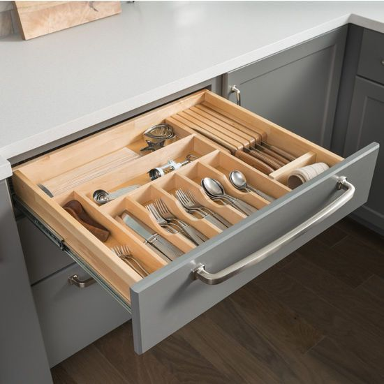 Drawer Organizer Insert Cutlery Tray 14 5 8 W X 22 D 2 1