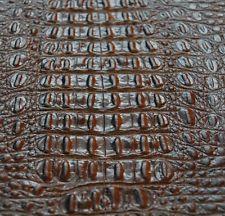37 sf 4 - 4.5 oz. Brown Crocodile Alligator Print Cow Hide Leather Skin cg2i j