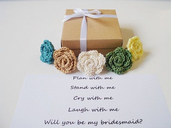 Bridesmaid proposal Will you be my bridesmaid gift by prettyobject